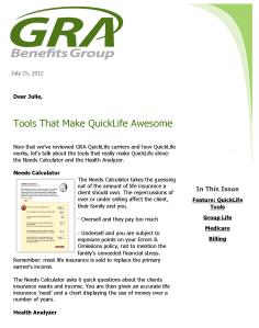 GRA Benefits Group Newsletter